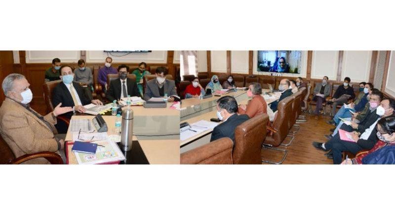 J&K Lt. Governor's advisor reviews Social Welfare Department's functioning