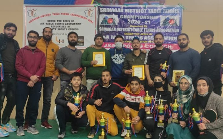 J&K: Srinagar Table Tennis championship concludes