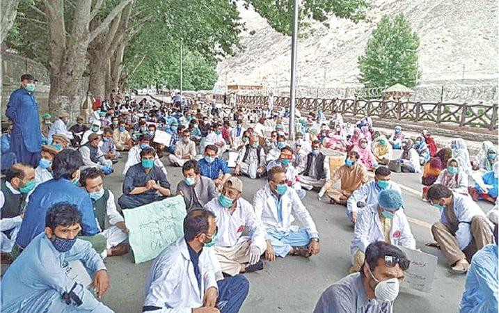 Gilgit Baltistan doctors protest after being denied regularisation, post-graduation admission