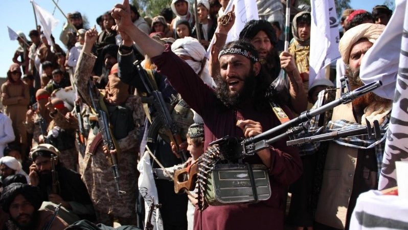 Taliban announces victory as US troops backed