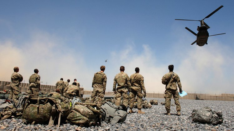 Afghanistan out of control ones Us troops leave the country