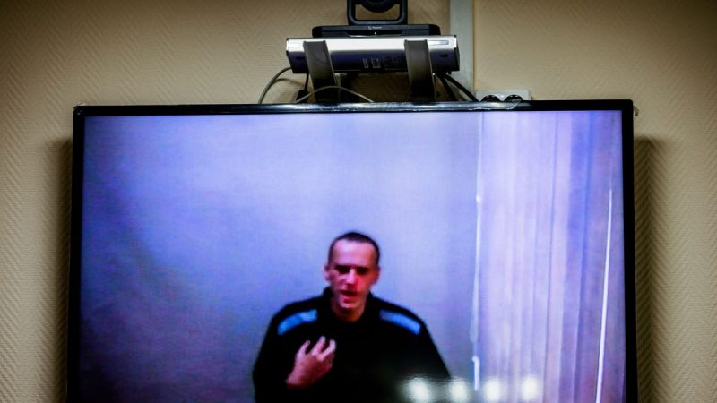 Jailed Kremlin critic Alexei Navalny says he is being forced to watch state television for eight hours a day