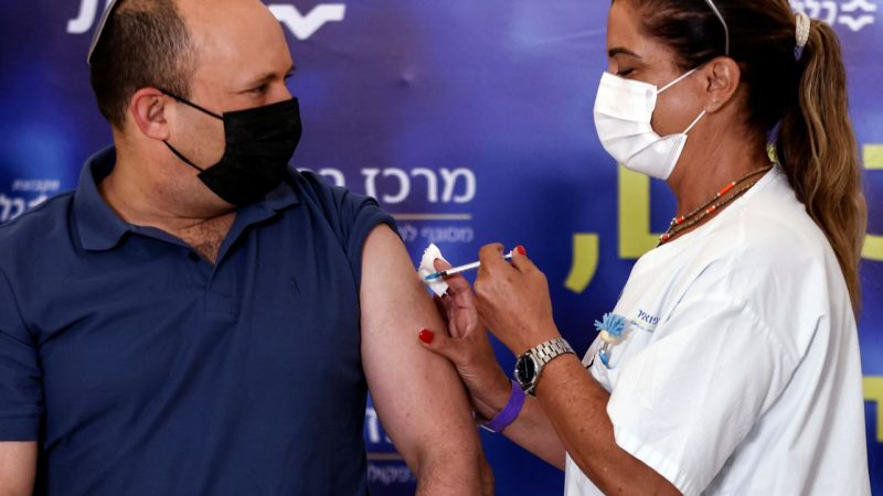 PM has third COVID-19 shot as Israel extends booster campaign